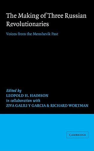 9780521263252: The Making of Three Russian Revolutionaries (African Studies Series)