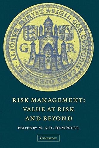9780521263740: Risk Management: Value at Risk and Beyond