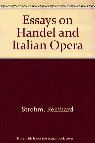9780521264280: Essays on Handel and Italian Opera