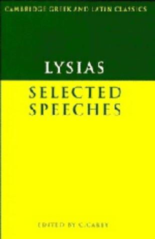 9780521264358: Lysias: Selected Speeches (Cambridge Greek and Latin Classics)