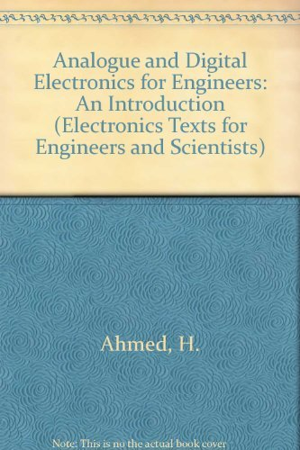 9780521264631: Analogue and Digital Electronics for Engineers: An Introduction (Electronics Texts for Engineers and Scientists)