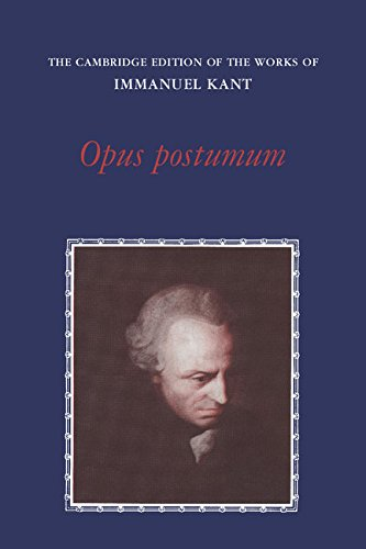9780521265119: Opus Postumum (The Cambridge Edition of the Works of Immanuel Kant)