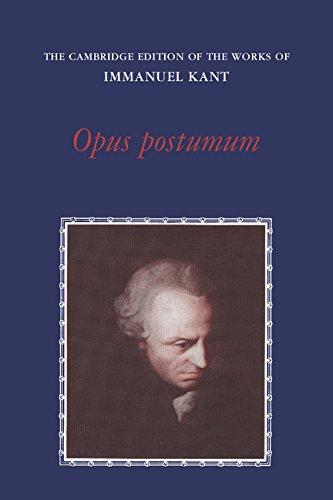 9780521265119: Opus Postumum