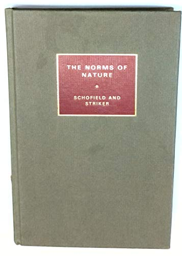 9780521266239: The Norms of Nature: Studies in Hellenistic Ethics