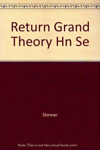 9780521266925: Return Grand Theory Hn Se