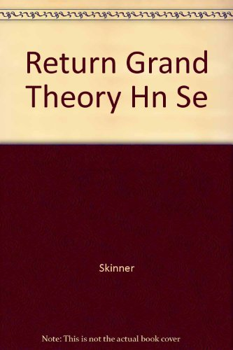 9780521266925: Return Grand Theory Hn Se