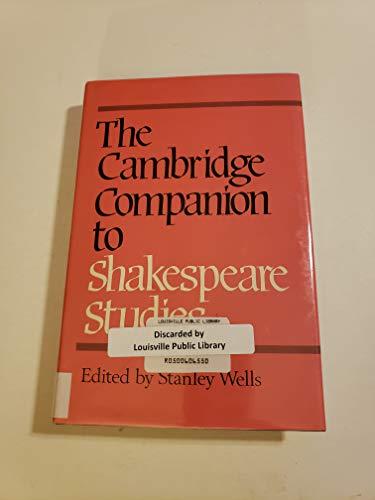 9780521267373: The Cambridge Companion to Shakespeare Studies (Cambridge Companions to Literature)