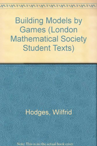 9780521268974: Building Models by Games (London Mathematical Society Student Texts)