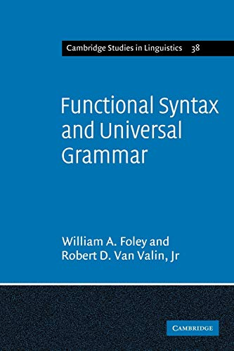 9780521269049: Functional Syntax and Universal Grammar (Cambridge Studies in Linguistics)