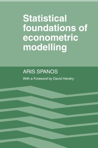 9780521269124: Statistical Foundations of Econometric Modelling