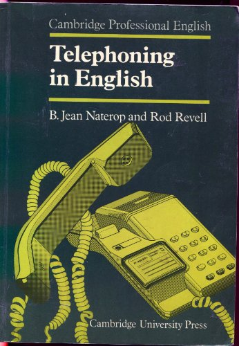 9780521269759: Telephoning in English Student's book (Cambridge Professional English)