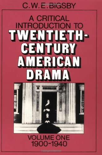 9780521271165: A Critical Introduction to Twentieth-Century American Drama: Volume 1, 1900-1940 Paperback