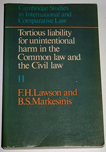9780521272100: Tortious Liability for Unintentional Harm in the Common Law and the Civil Law: Volume II, Materials