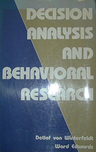 9780521273046: Decision Analysis and Behavioral Research