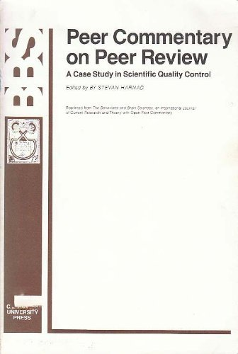 9780521273060: Peer Commentary on Peer Review: A Case Study in Scientific Quality Control