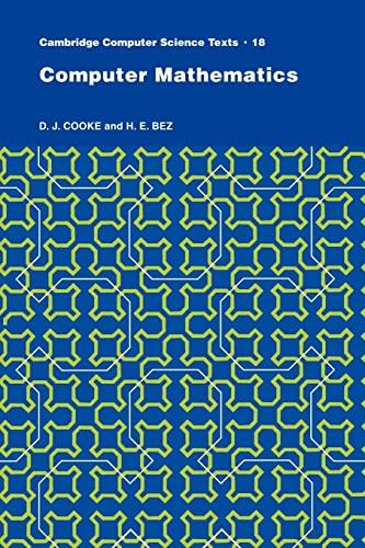 9780521273244: Computer Mathematics