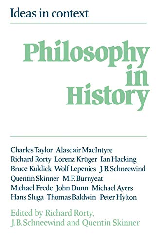 9780521273305: Philosophy in History: Essays in the Historiography of Philosophy (Ideas in Context)