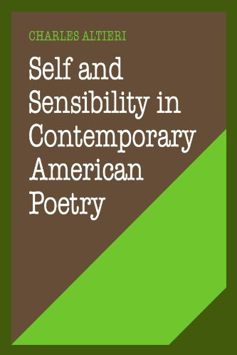 9780521274135: Self and Sensibility in Contemporary American Poetry (Cambridge Studies in American Literature and Culture)