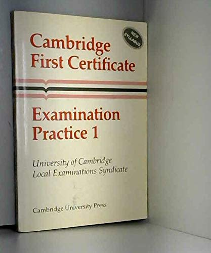 Cambridge First Certificate Examination Practice 1 Student's: University of Cambridge