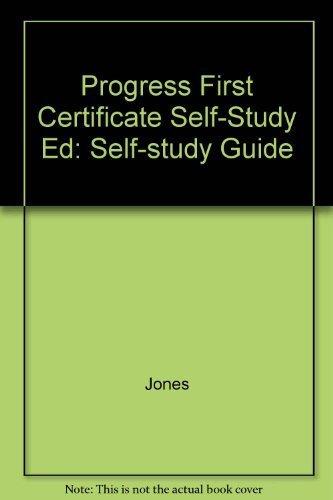 9780521274609: Progress First Certificate Self-Study Ed: Self-study Guide