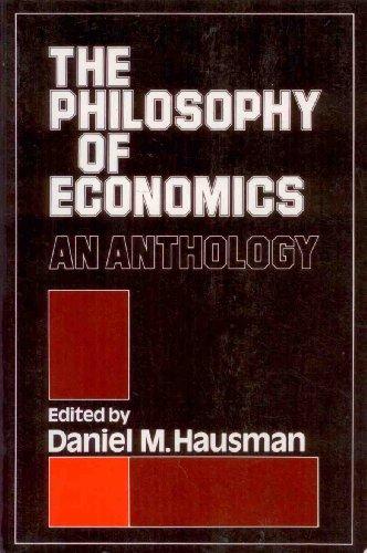 9780521275163: The Philosophy of Economics: Anthology