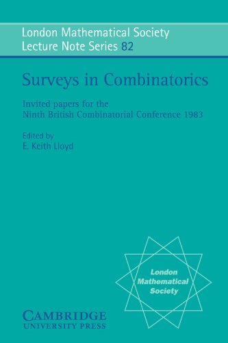 Surveys in Combinatorics: Invited Papers for the Ninth British Combinatorial Conference, 1982