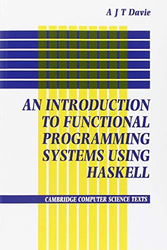 9780521277242: Introduction to Functional Programming Systems Using Haskell (Cambridge Computer Science Texts)