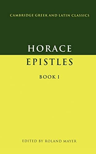 9780521277549: Epistles Book I Paperback: Bk.1 (Cambridge Greek and Latin Classics)