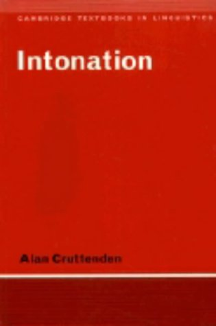 9780521278058: Intonation (Cambridge Textbooks in Linguistics)