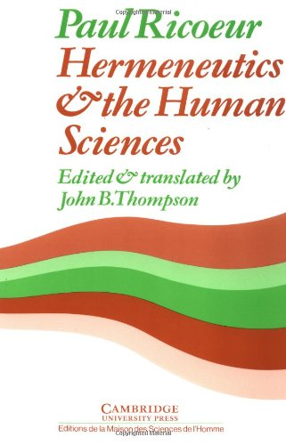 9780521280020: Hermeneutics and the Human Sciences Paperback: Essays on Language, Action and Interpretation