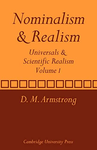 9780521280334: Nominalism and Realism: Volume 1: Universals and Scientific Realism (Universals & Scientific Realism)