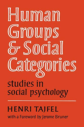9780521280730: Human Groups and Social Categories: Studies in Social Psychology