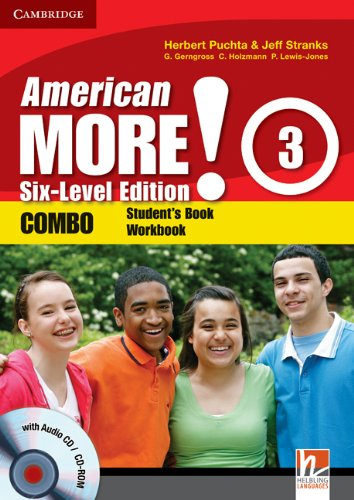 9780521280990: American More! 3 Six-Level Edition Combo with Audio CD/CD-ROM