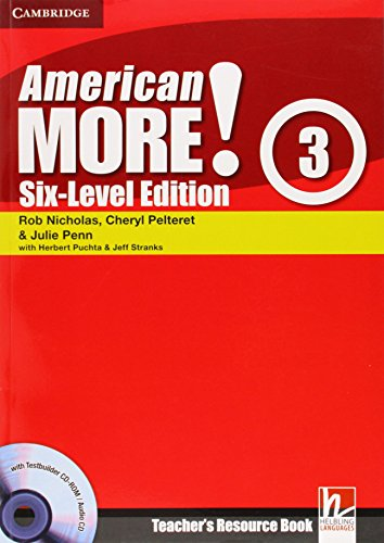 9780521281003: American More! Six-Level Edition Level 3 Teacher's Resource Book with Testbuilder CD-ROM/Audio CD