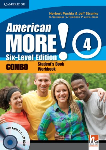 9780521281027: American More! 4 Six-Level Edition Combo with Audio CD/CD-ROM