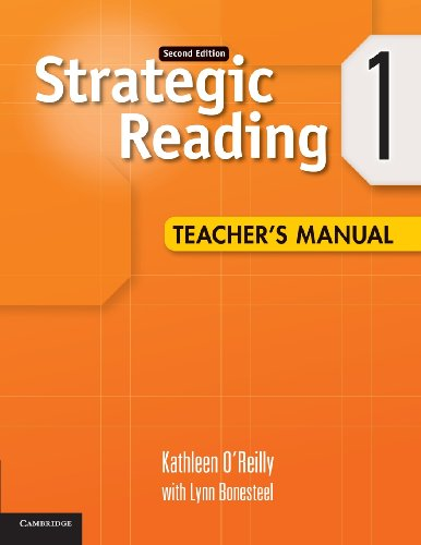 9780521281140: Strategic Reading 2nd 1 Teacher's Manual