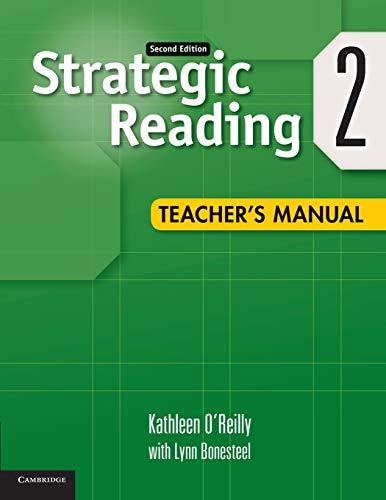 Strategic Reading Level 2 Teacher's Manual: O'Reilly, Kathleen