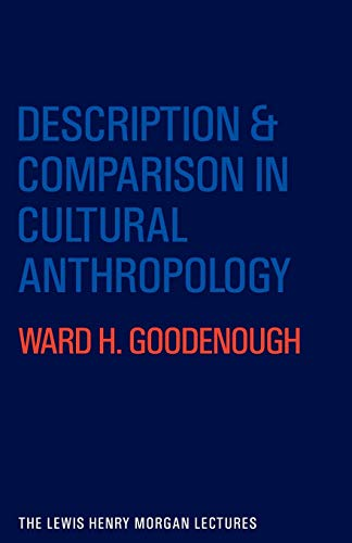 9780521281966: Description and Comparison in Cultural Anthropology (Lewis Henry Morgan Lectures)
