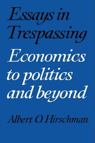 9780521282437: Essays in Trespassing: Economics to Politics and Beyond