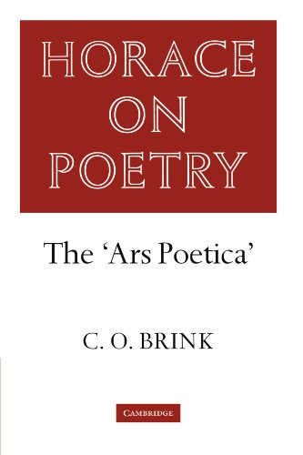 9780521283083: Horace on Poetry: The 'Ars Poetica' (Brink: Horace on Poetry)