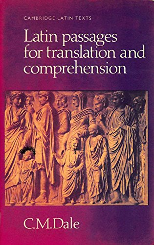9780521283557: Latin Passages for Translation and Comprehension (Cambridge Latin Texts)