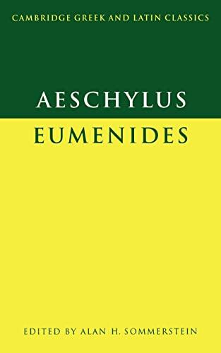 9780521284301: Aeschylus: Eumenides (Cambridge Greek and Latin Classics)