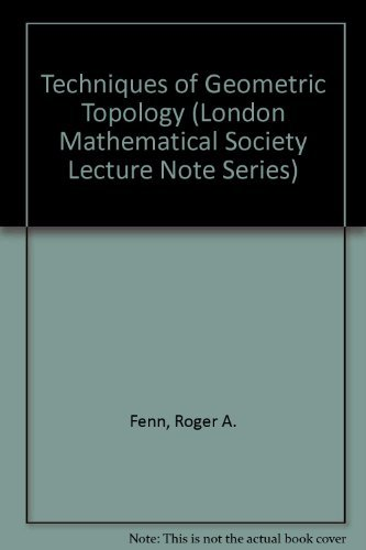 Techniques of Geometric Topology (London Mathematical Society Lecture Note Series)