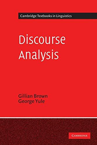 9780521284752: Discourse Analysis