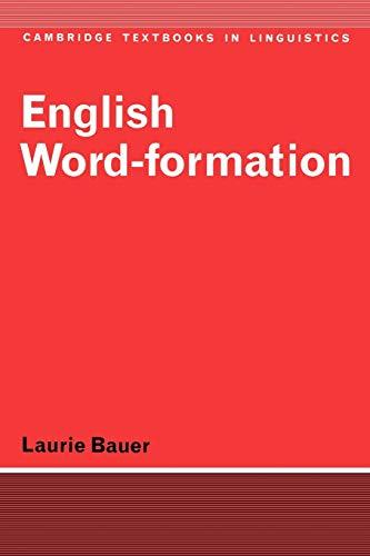 9780521284929: English Word-Formation