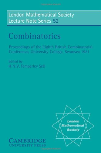 9780521285148: Combinatorics (London Mathematical Society Lecture Note Series)