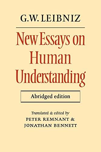 9780521285391: New Essays on Human Understanding Abridged edition