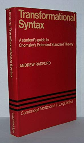9780521285742: Transformational Syntax (Cambridge Textbooks in Linguistics)
