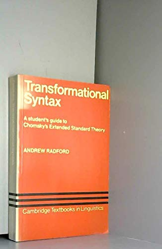 Transformational Syntax (Cambridge Textbooks in Linguistics) (0521285747) by Andrew Radford