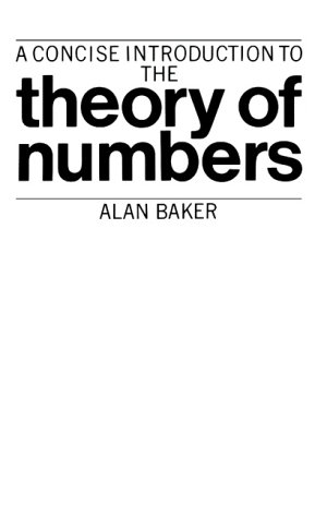 9780521286541: Concise Intro Theory of Numbers